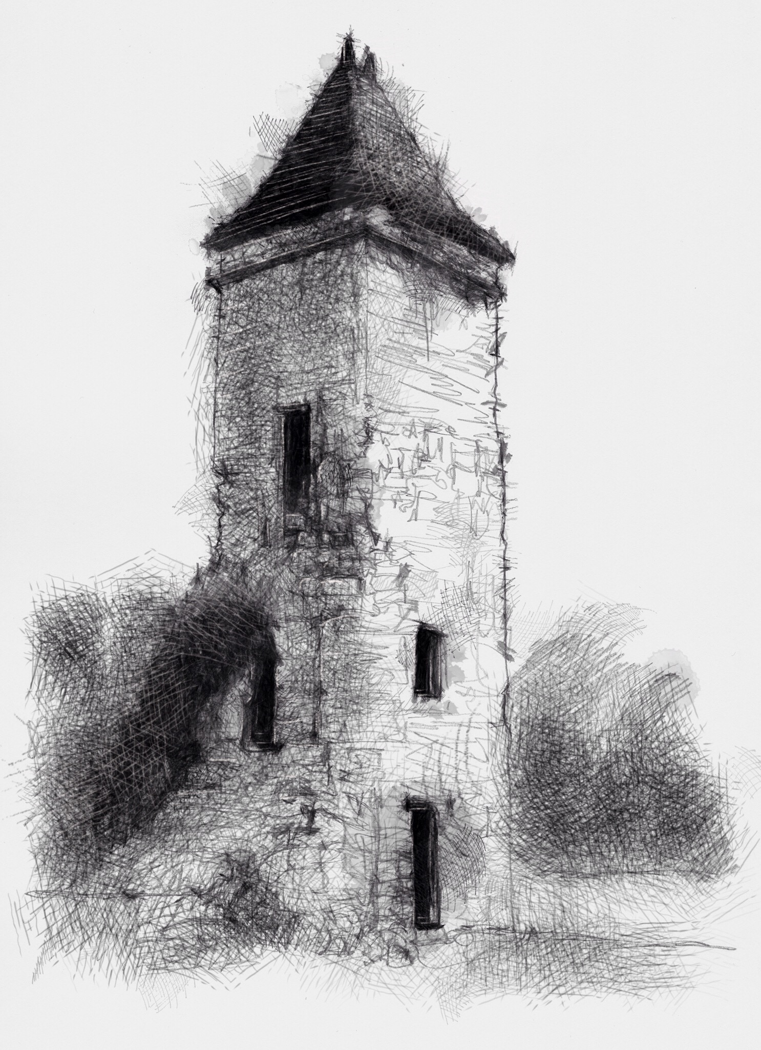 old french tower in the dordogne 499 art drawing sketch httpetsyme1rarc0j